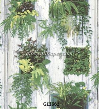 wallpaper motif daun,
