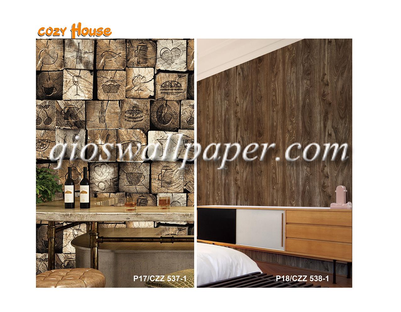 harga wallpaper dinding 3d kayu balok
