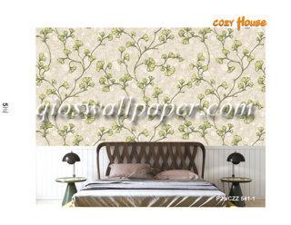 wallpaper dinding motif daun rambat