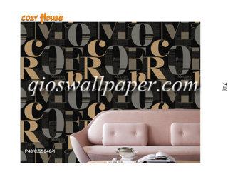 wallpaper dinding motif abjad