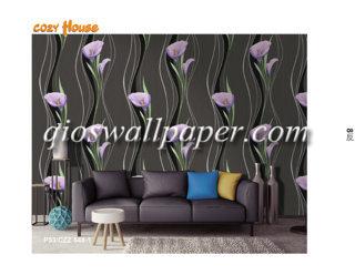 wallpaper dinding motif tulip