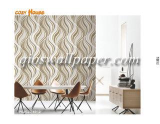 wallpaper dinding motif coklat 3d