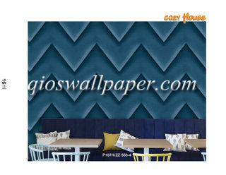 jual wallpaper dinding motif aesthetik biru