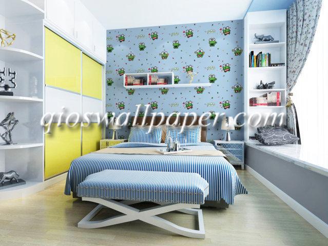 wallpaper ruang anak keropi