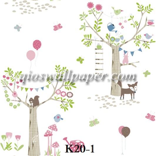 wallpaper ruang anak bunga