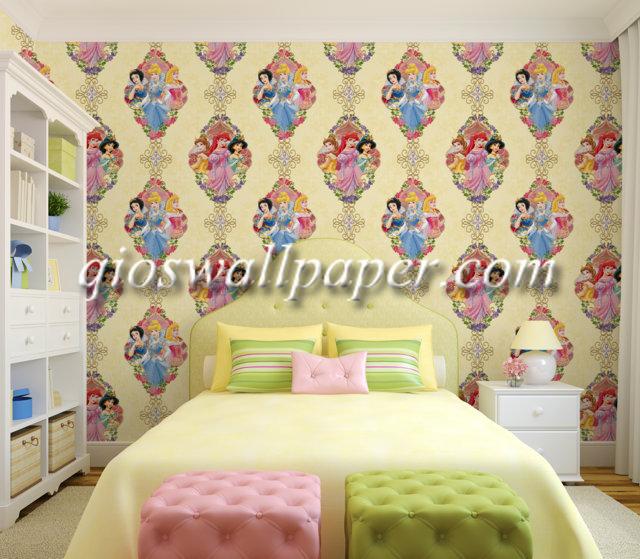 wallpaper kamar tidur anak perempuan princess
