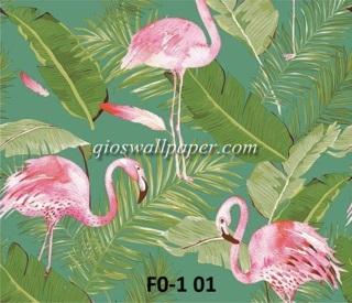 wallpaper motif bangau