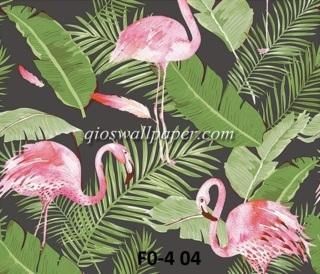 wallpaper shabby hijau bangau