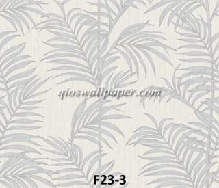 toko wallpaper dinding motif daun putih
