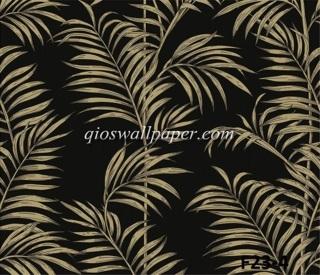 toko wallpaper dinding motif daun coklat