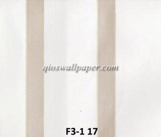 wallpaper dindinng motif garis coklat