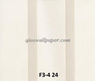 wallpaper dindinng motif garis coklat krem