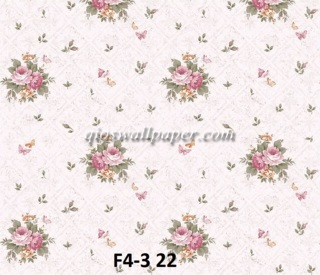 wallpaper bunga shabby pink