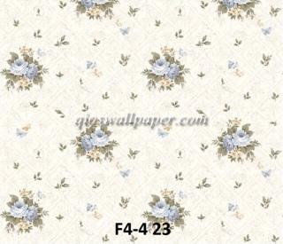 wallpaper bunga shabby biru muda