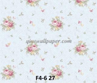 wallpaper bunga shabby hijau muda