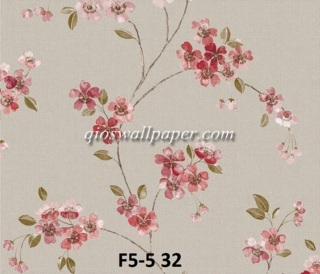 wallpaper dinding motif shabby chic