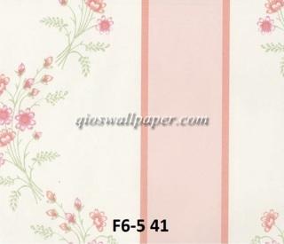 wallpaper dinding motif shabby chic garis pink