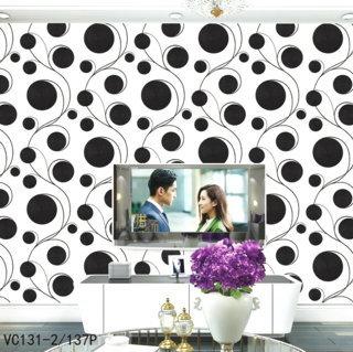 contoh wallpaper dinding ruang tv