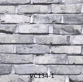 wallpaper dinding batu bata ruang tamu