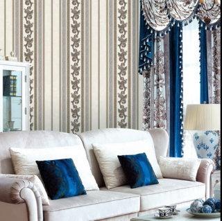 wallpaper dinding ruang tamu elegan
