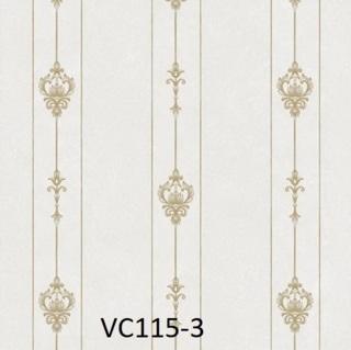 Wallpaper dinding garis warna abu abu