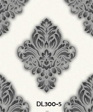 Wallpaper dinding batik warna silver