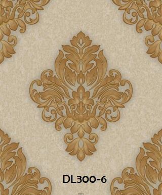 Wallpaper dinding batik warna gold