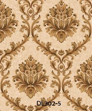 Wallpaper dinding klasik warna coklat