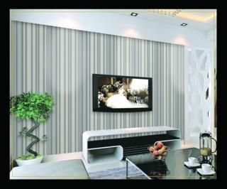 wallpaper dinding ruang tamu kecil