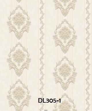 Wallpaper dinding salur klasik warna abu abu