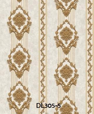 Wallpaper dinding ruang tamu salur klasik