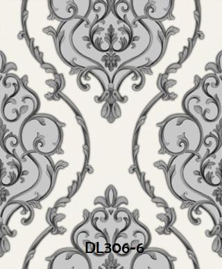 wallpaper dinding klasik kamar silver