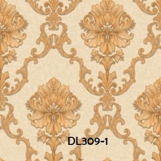 Wallpaper dinding klasik warna gold