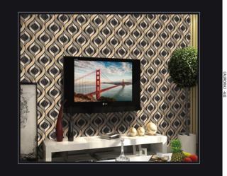 wallpaper 3d ruang tamu