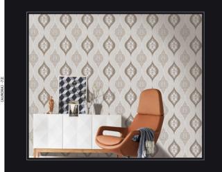 wallpaper 3d ruang tamu damask
