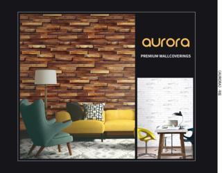 toko wallpaper dinding aurora motif 3d kayu