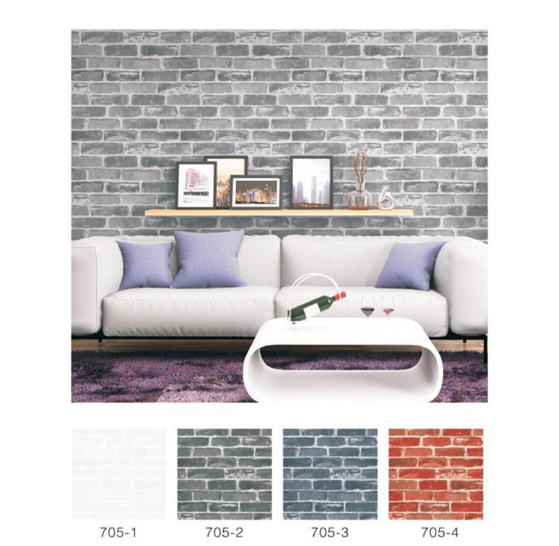 wallpaper dinding batu bata 3d