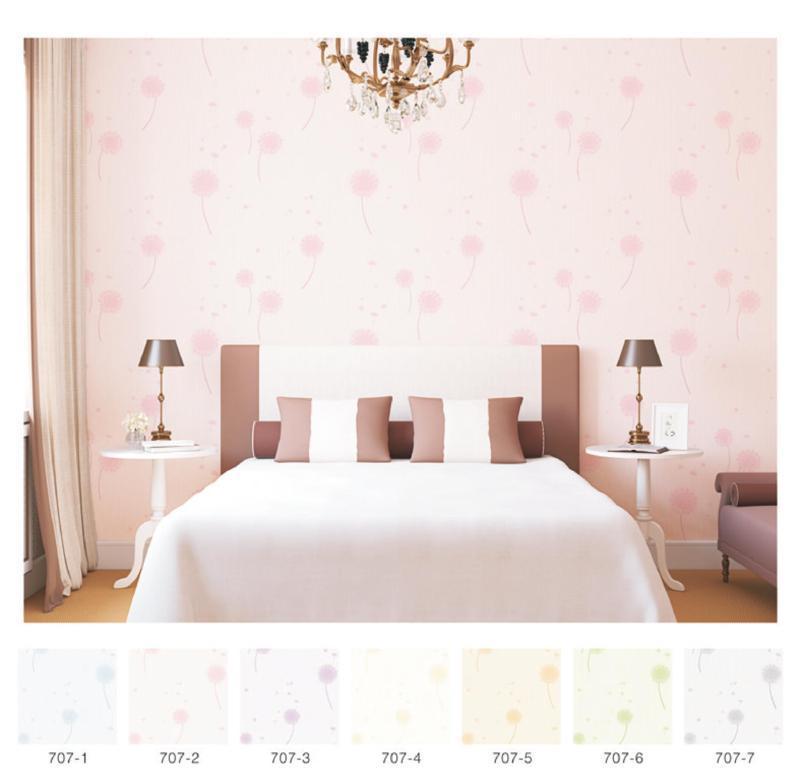 wallpaper dinding kamar tidur romantis