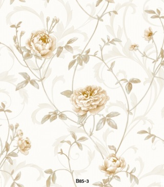 corak wallpaper dinding ruang tamu