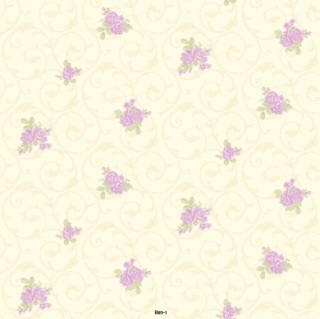 wallpaper dinding kamar tidur bunga ungu
