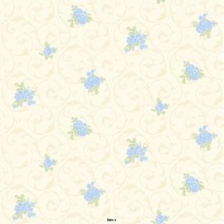 wallpaper dinding bunga biru