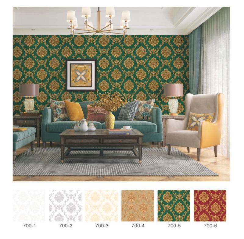 wallpaper dinding batik ruang tamu