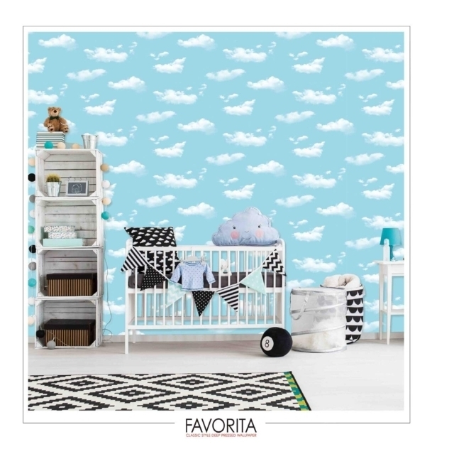 wallpaper dinding 3d awan