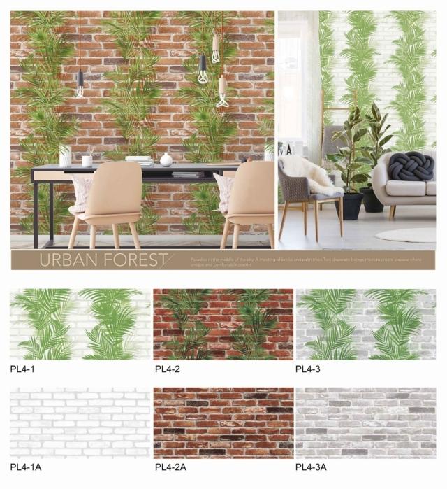 wallpaper dinding batu bata merah timbul