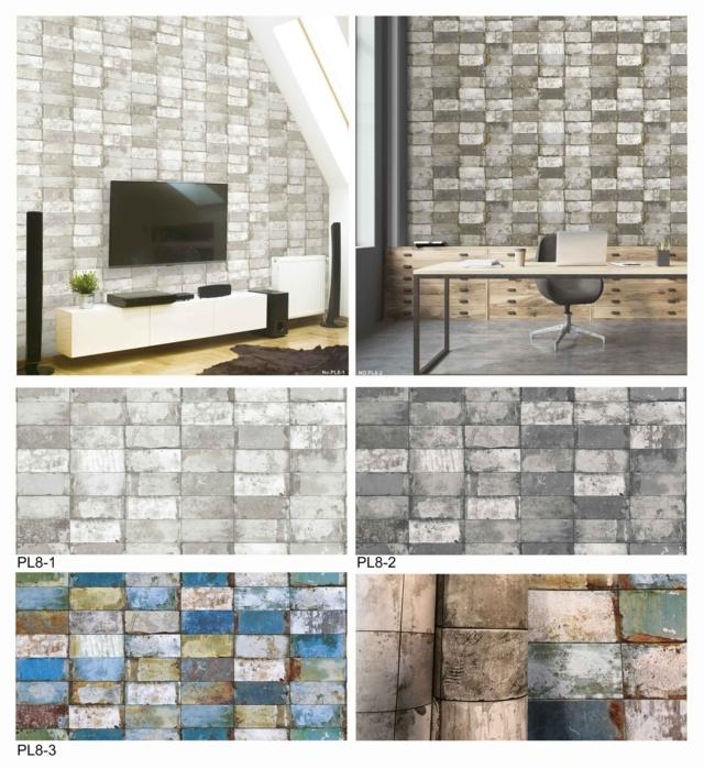 harga wallpaper dinding ruang tamu motif kayu