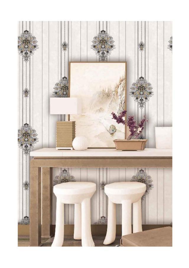 wallpaper ruang keluarga batik terbaru