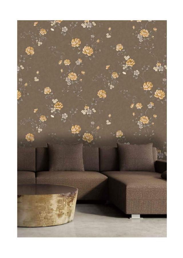 wallpaper bunga ruang tamu
