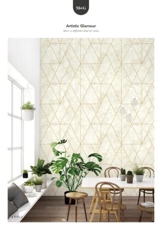 wallpaper tembok ruang keluarga timbul