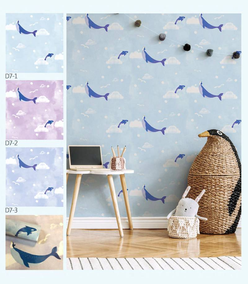 wallpaper dinding emboss dream land