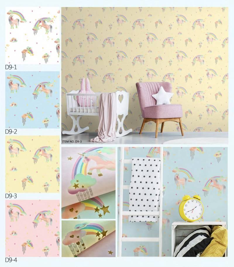 wallpaper dinding unicorn dream land